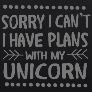 Sorry I Can't - I Have Plans With My Unicorn Taschen & Rucksäcke - Bio-Stoffbeutel