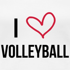 I Love Volleyball T-shirts - Vrouwen Premium T-shirt