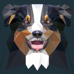 Aussie, low poly, black T-shirts - Mannen T-shirt