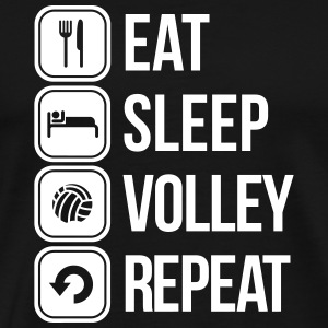 eat sleep volley repeat T-shirts - Mannen Premium T-shirt