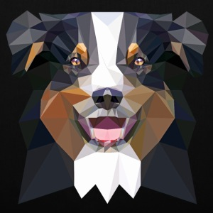 Aussie, low poly, black Bags & Backpacks - Tote Bag