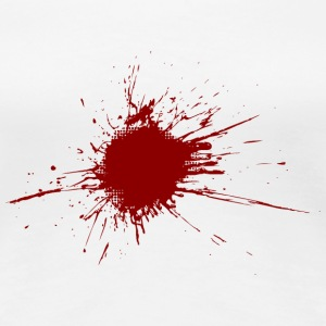 Blood spatter from a bullet wound T-Shirts - Women's Premium T-Shirt
