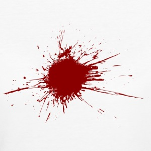 Blood spatter from a bullet wound T-Shirts - Women's Organic T-shirt