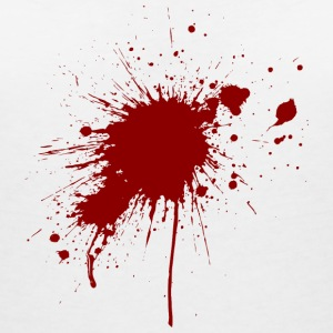 Blood spatter from a bullet wound T-Shirts - Women's V-Neck T-Shirt