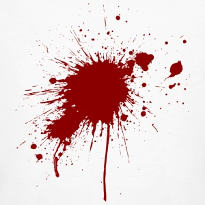 Blood spatter from a bullet wound T-Shirts - Men's Organic T-shirt