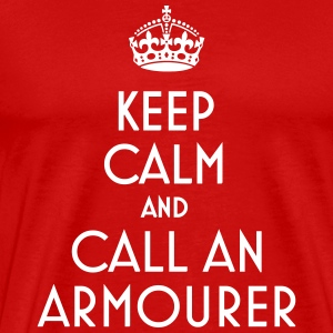 Keep calm call armourer - Men's Premium T-Shirt
