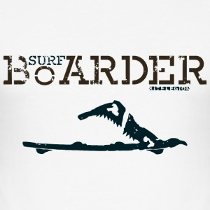 surf boarder fr Tee shirts - Tee shirt près du corps Homme