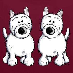 West Highland White Terrier Duo Pullover & Hoodies - Kontrast-Hoodie