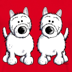 West Highland White Terrier Duo T-Shirts - Männer T-Shirt