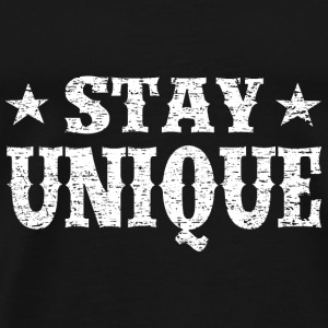 Stay Unique White Vintage T-Shirts - Men's Premium T-Shirt