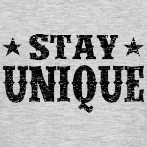 Stay Unique Black Vintage T-Shirts - Men's T-Shirt
