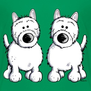 Two West Highland White Terrier Shirts - Kids' Premium T-Shirt