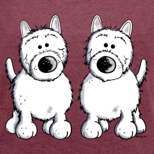 To West highland white-terrier T-shirts - Dame T-shirt med rulleærmer