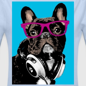 Pop Art Bulldog Sweats - Body bébé bio manches longues