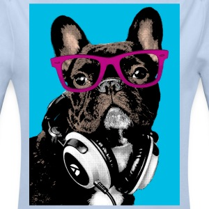 Pop Art Bulldog Pullover & Hoodies - Baby Bio-Langarm-Body
