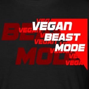 Vegan Beast Mode [red] T-Shirts - Männer T-Shirt