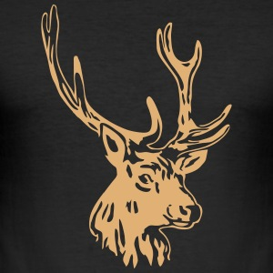 deer - antler - hunting - hunter T-Shirts - Men's Slim Fit T-Shirt