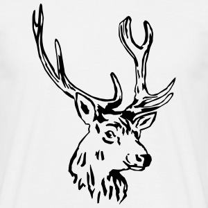 deer - antler - hunting - hunter T-Shirts - Men's T-Shirt