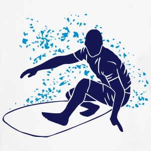 Surfing - Surfer - Surfboard Tee shirts - T-shirt contraste Homme