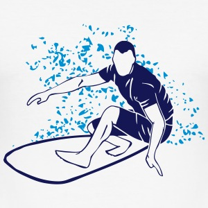 Surfing - Surfer - Surfboard T-shirts - Slim Fit T-shirt herr