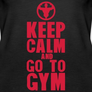 keep calm and go to gym bodybuilding Tops - Frauen Premium Tank Top