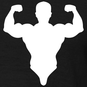 silhouette bodybuilder pose biceps 0 Tee shirts - T-shirt Homme