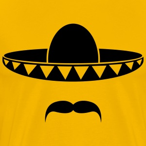 Sombrero with a beard from Mexico T-Shirts - Men's Premium T-Shirt