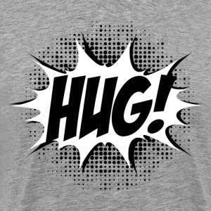 Comic HUG! Boom, Bang, Superhero, Quotes, Funny T-Shirts - Men's Premium T-Shirt