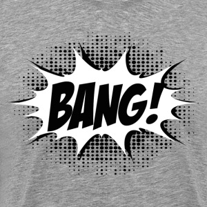 Comic Bang! Boom, Kaboom, Superhero, Quotes T-Shirts - Men's Premium T-Shirt