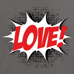 Love, Comic Style, Quotes, Valentines Day,  T-shirts - Dame kontrast-T-shirt