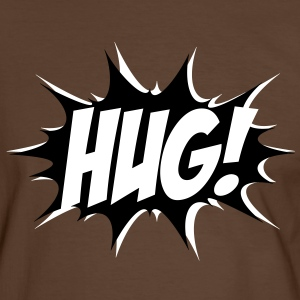 Comic HUG! Boom, Bang, Superhero, Quotes, Funny T-Shirts - Men's Ringer Shirt