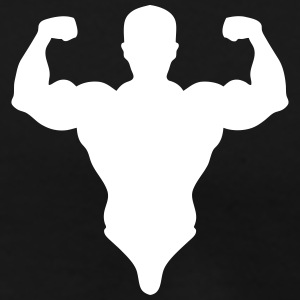 silhouette bodybuilder pose biceps 0 Tee shirts - T-shirt Premium Homme