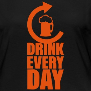 drink every day repeat alcool biere Manches longues - T-shirt manches longues Premium Femme