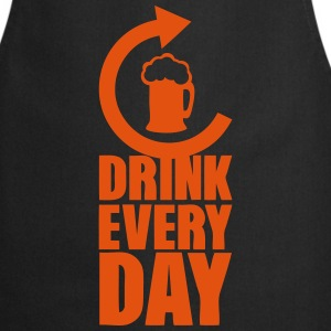 drink every day repeat alcool biere Tabliers - Tablier de cuisine