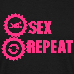 sex repeat amour icon sexe Tee shirts - T-shirt Homme