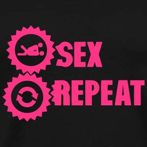 sex repeat amour icon sexe Tee shirts - T-shirt Premium Homme