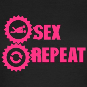 sex repeat amour icon sexe Tee shirts - T-shirt Femme