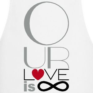 Our Love is Infinite White Apron - Cooking Apron