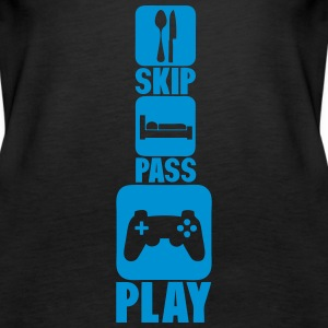 geek skip pass play manette_jeux_3 Tops - Frauen Premium Tank Top