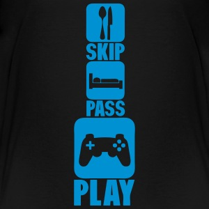 geek skip pass play manette_jeux_3 T-Shirts - Teenager Premium T-Shirt