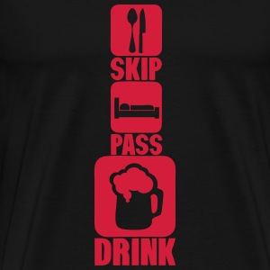skip pass drink alcool biere humour 3 Tee shirts - T-shirt Premium Homme