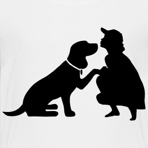 Dog with mistress T-shirts - Teenager premium T-shirt