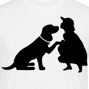 Dog with mistress Camisetas - Camiseta hombre