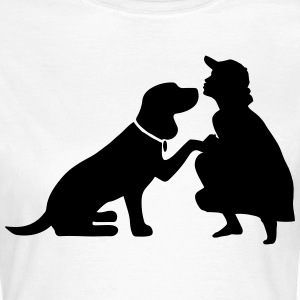 Dog with mistress Tee shirts - T-shirt Femme