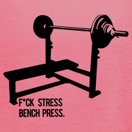 Design ~ F*ck Stress Bench Press | Womens flowy tank