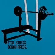 Design ~ F*ck Stress Bench Press | Unisex hoodie