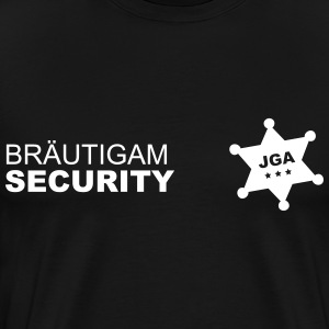 Bräutigam Security (md) JGA - Männer Premium T-Shirt