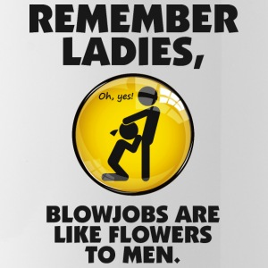 Blowjobs Are Like Flowers For Men Mugs & Drinkware - Water Bottle