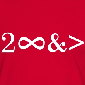 To Infinity and beyond! Love, Valentines Day, Math T-shirts - Kontrast-T-shirt herr