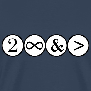 To Infinity and beyond! Love, Valentines Day, Math T-shirts - Premium-T-shirt herr